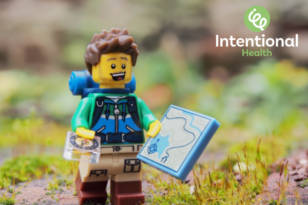 Lego person on a journey